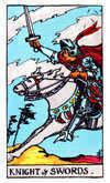 Tarot Minor Arcana card: Knight of Swords