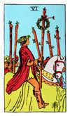 Tarot Minor Arcana card: Six of Wands