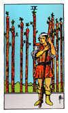 Tarot Minor Arcana card: Nine of Wands