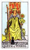Tarot Minor Arcana card: Queen of Wands