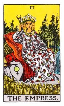 The Empress Major Arcana Tarot card.