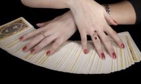 Tarot Cards Face Down Fan