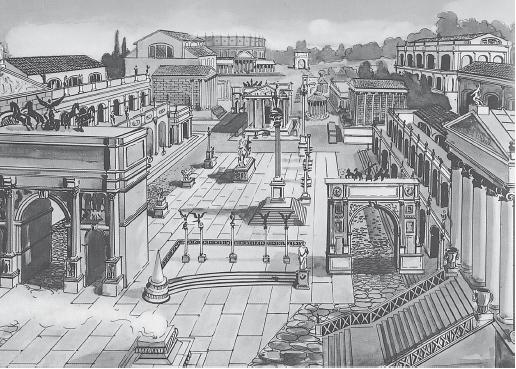Занесенный глиной Римский Форум sibved