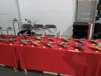 Table of model Spitifres at Telford IPMS 2011