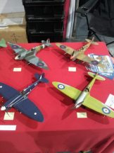 Different versions of the Spitfire at Telford IPMS 2011