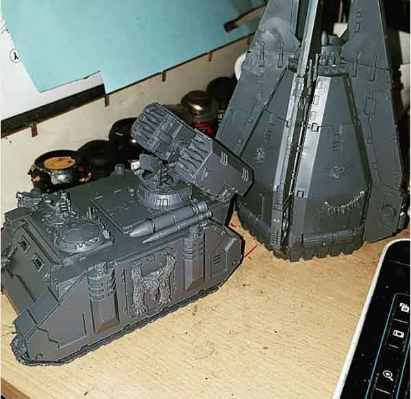 WIP: Space Wolf Whirlwind & Drop pod