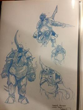 2016 bloodbowl chaos sketches