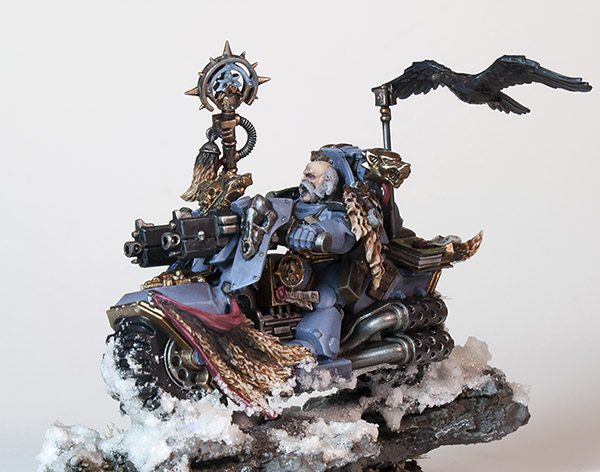Showcase: Space Wolves Rune Priest Biker