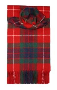 Lochcarron Red Fraser Tartan Lambswool Scarf