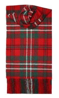 Lochcarron Red Scott Tartan Lambswool Scarf