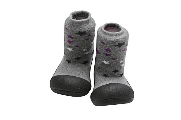 Meia/Sapato ATTIPAS com tecido duplo - Twinkle Preto - Tartaruguita
