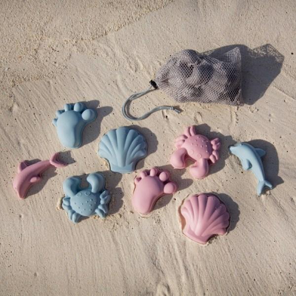 Conjunto de Praia - Balde em Silicone + acessórios Scrunch Tartaruguita