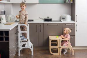 Torre de Aprendizagem Montessori 3 em 1 - Step'n Sit - Tartaruguita