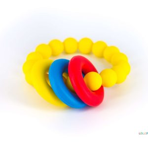 Pulseira Mordedor Amarelo Donut Teether Bracelet Yellow Lollipops & More Tartaruguita
