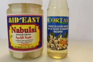The Nabulsi Cheese and orange Blossom Water.  These are my two favorite brands.  The cheese isn't too salty and the Cortas, along with being and excellent product, is readily available in upscale and Middle Eastern markets.