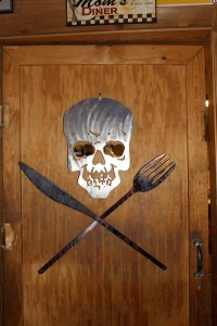 Chikin' Coop's Kitchen door. I want this.