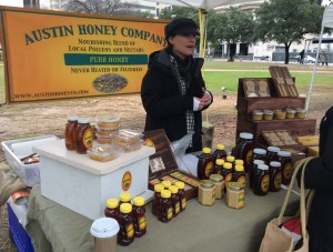 Comb Honey from Austin Honey Company. As we all know, eating local honey daily will help with allergies. It takes time, but it does work.