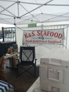 K & S Seafood. I felt bad for the girl working the stand. She had a space heater, but having to constantly plunger her hands into ice to pull out the seafood had to have been torture on a day where the wind chill was in the 30's.