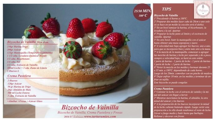 Receta Bizcocho de Vainilla con Fresas Tarturumies