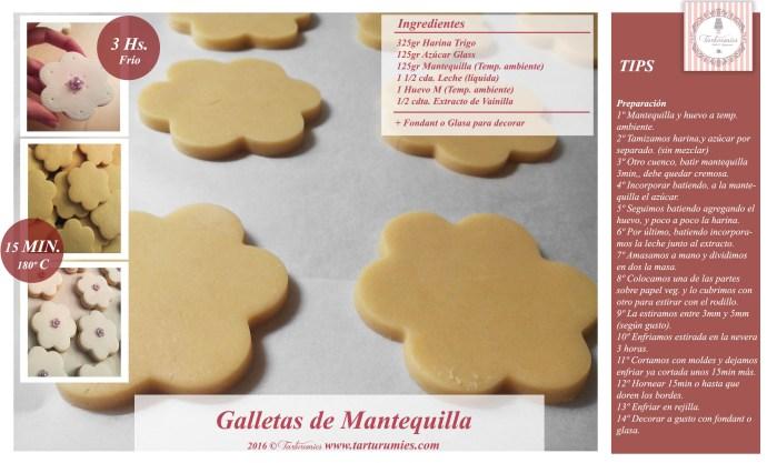 Receta Galletas de Mantequilla Tarturumies