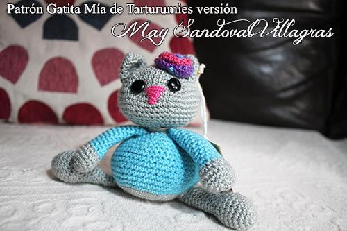 Patrón Gatita Mía de Tarturumies versión May Sandoval Villagras