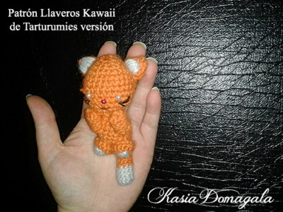 Patrón Llaveros Kawaii de Tarturumies versión Kasia Domagala