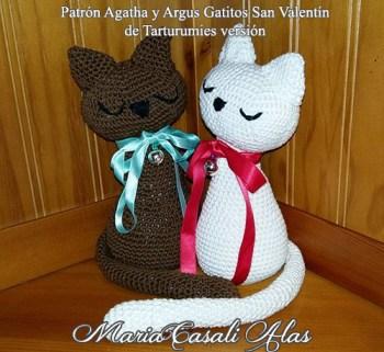 Patrón Gatitos Agatha y Argus de Tarturumies versión María Casal Alas