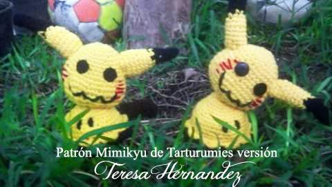 Patrón Pokémon Mimikyu de Tarturumies versión Teresa Hernandez