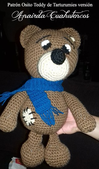 Patrón Osito Teddy de Tarturumies versión Anairda Cuahutencos