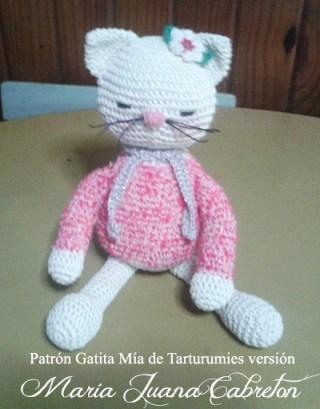Patrón Gatita Mía de Tarturumies versión María Juana Cabreton