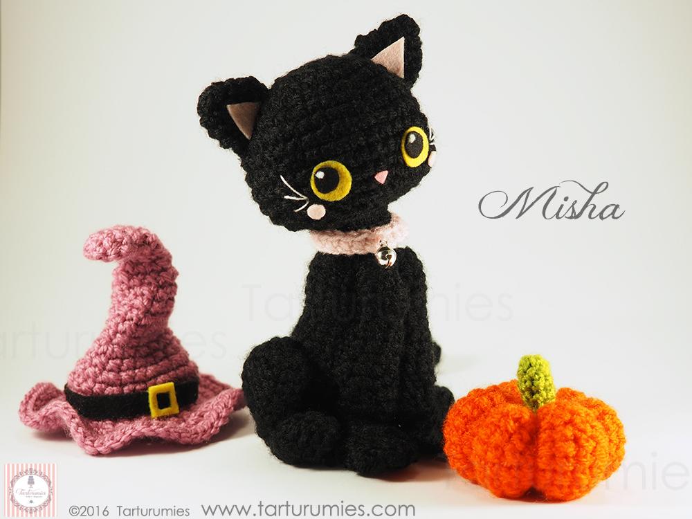Amigurumi Patrón: Gatita Misha Halloween – Tarturumies