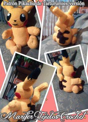 Patrón Pikachu de Tarturumies versión Marifer Tejidos Crochet