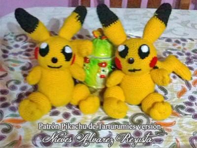 Patrón Pikachu de Tarturumies versión Nieves Alvarez Rezusta