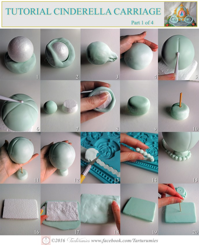 Tutorial of Cinderella Carriage in Fondant Part 1