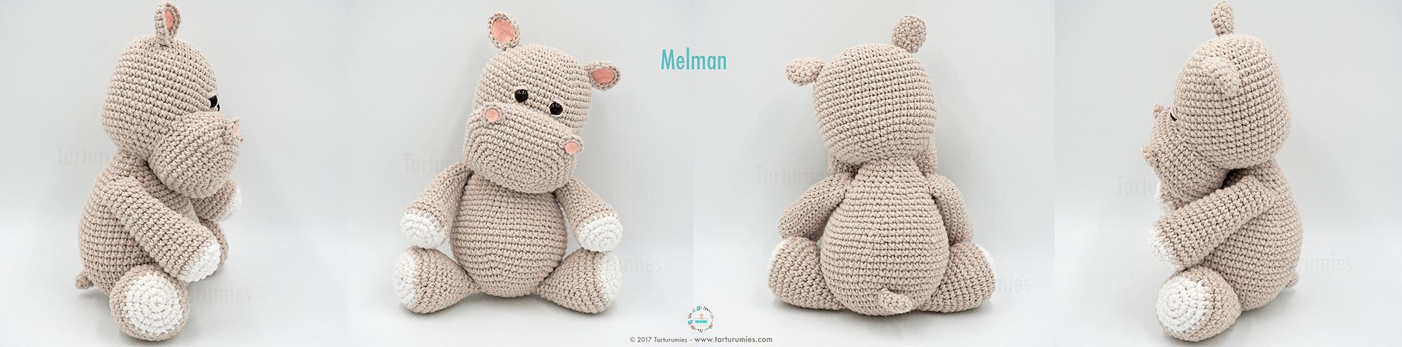 Amigurumi Patrón: El hipopótamo Melman y su amigo Pi – Tarturumies