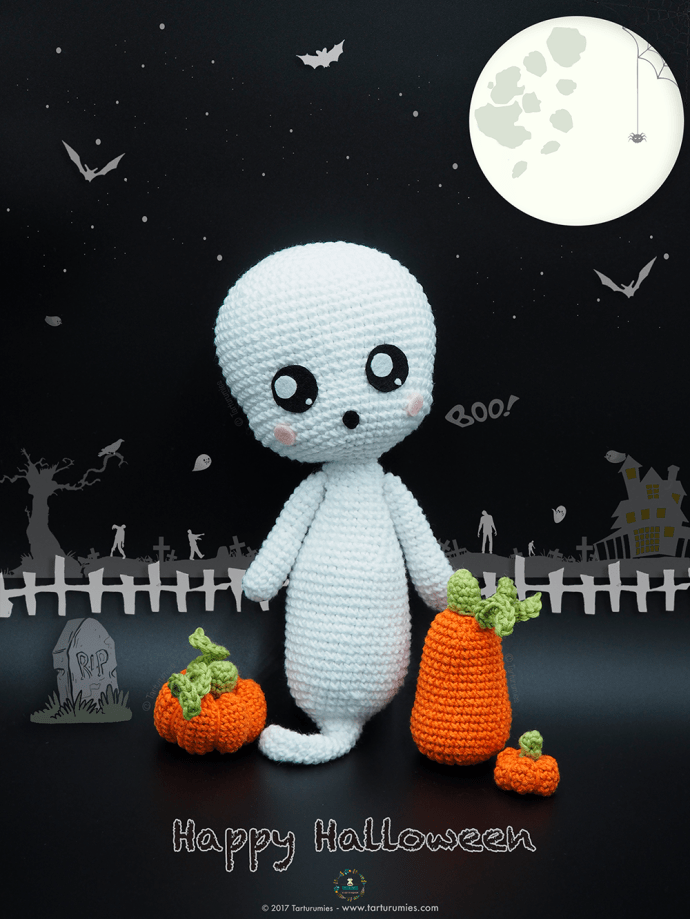 Kawaii Ghost amigurumi (free pattern) by NVkatherine.deviantart ... | 919x690
