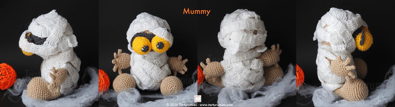Amigurumi Patrón: Mummy & Bob Halloween – Tarturumies