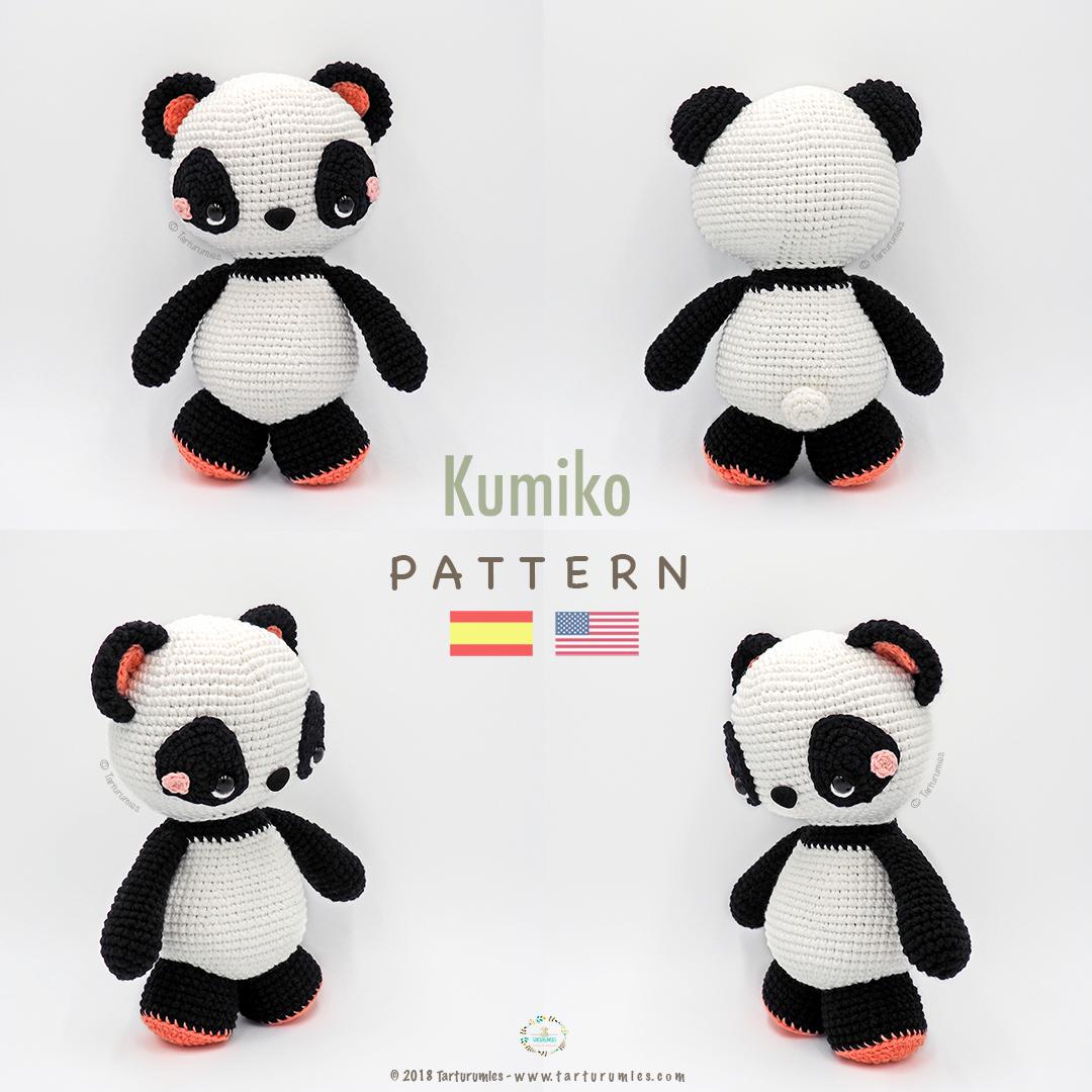 Amigurumi Patrón Premium: Kumiko Panda – Tarturumies