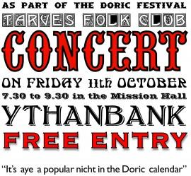 TARVES FOLK CLUB DORIC FESTIVAL CONCERT
