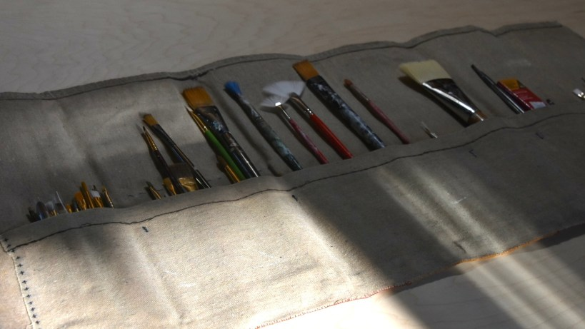 Project: Waxed Canvas Artist Paint Brush Roll