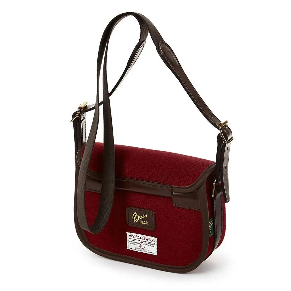 8R MOR Moorland Bag Red Tweed BACK