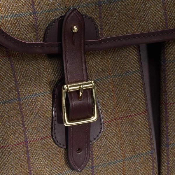 Croots Helmsley Tweed Carryall, burgundy 1