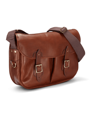Vintage Leather Carryall in Port Frontalansicht