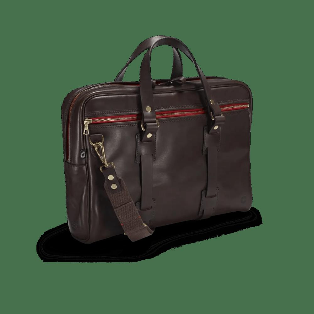 Vintage Leder Laptoptasche in attraktivem Dark Brown