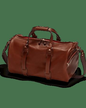 Reisetasche Vintage Leder Port von vorne