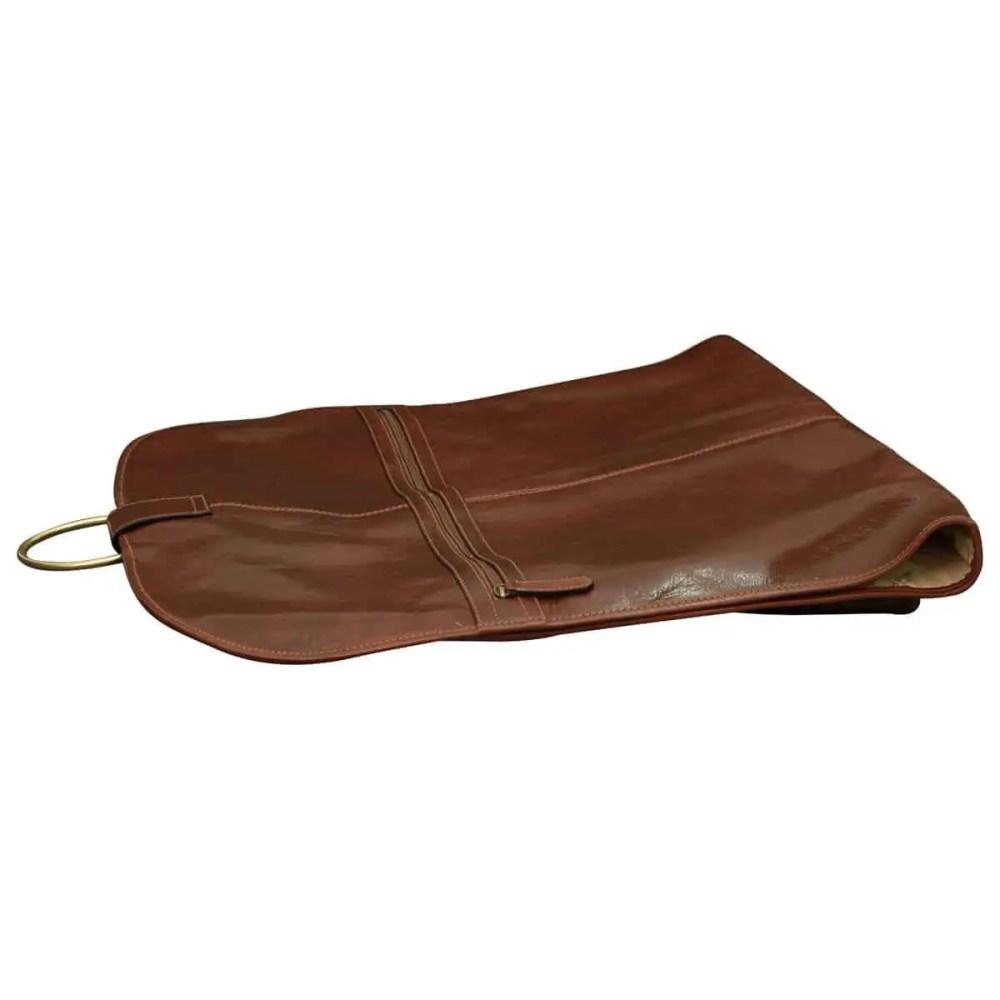 Liegende Kleidertasche aus Leder
