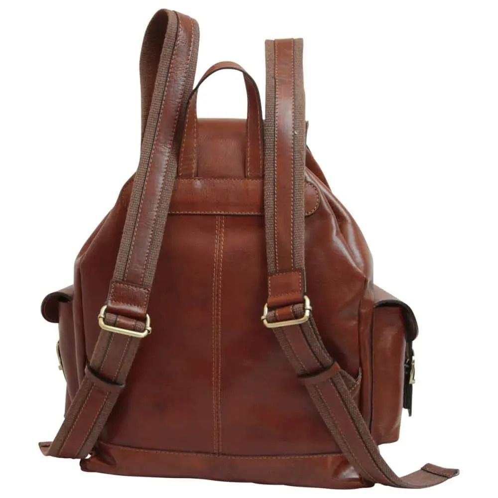 Rückseite Rucksack aus Leder