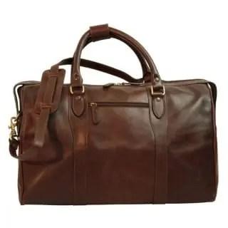 Reisetasche mit Schultergurt Dunkelbraun