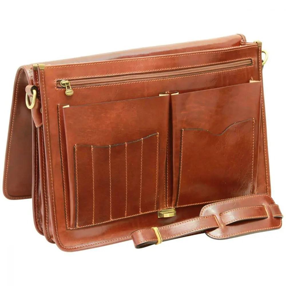Offen Aktentasche aus Leder braun