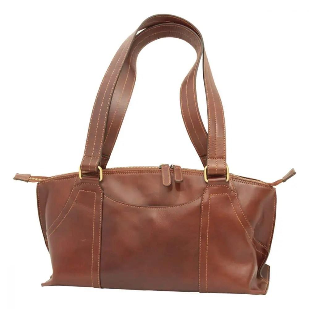 Tasche zwei griffen maronen front